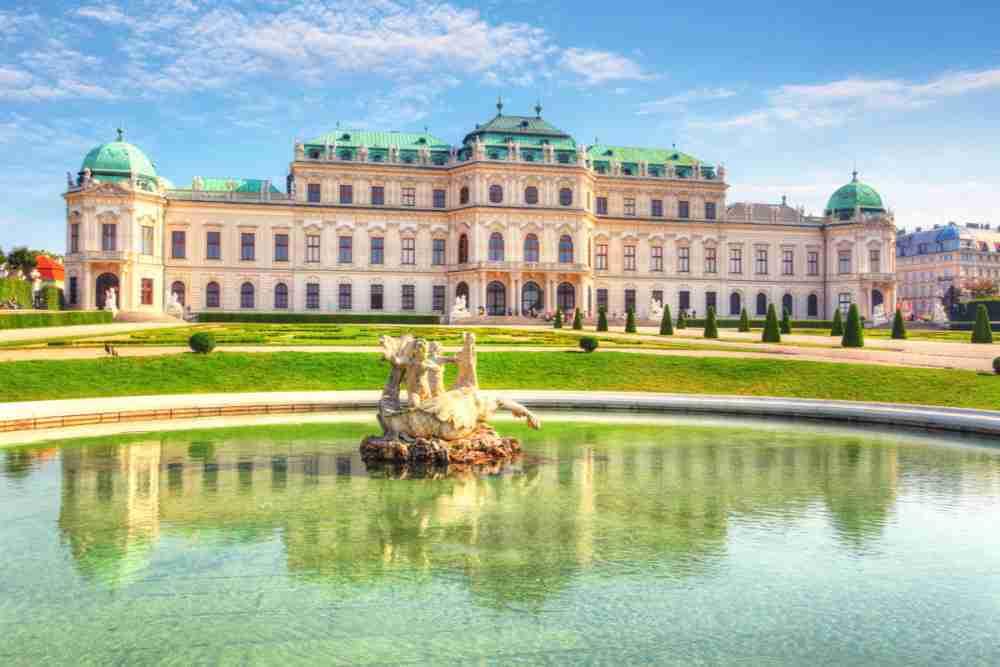 Belvedere Museum in Vienna in Austria