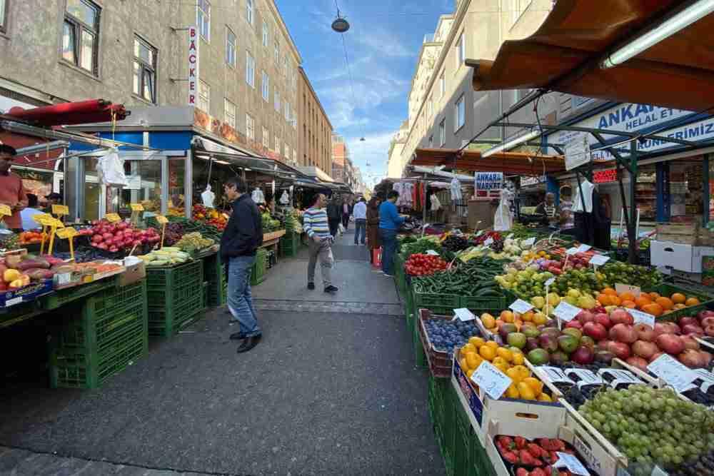 Brunnenmarkt in Vienna in Austria