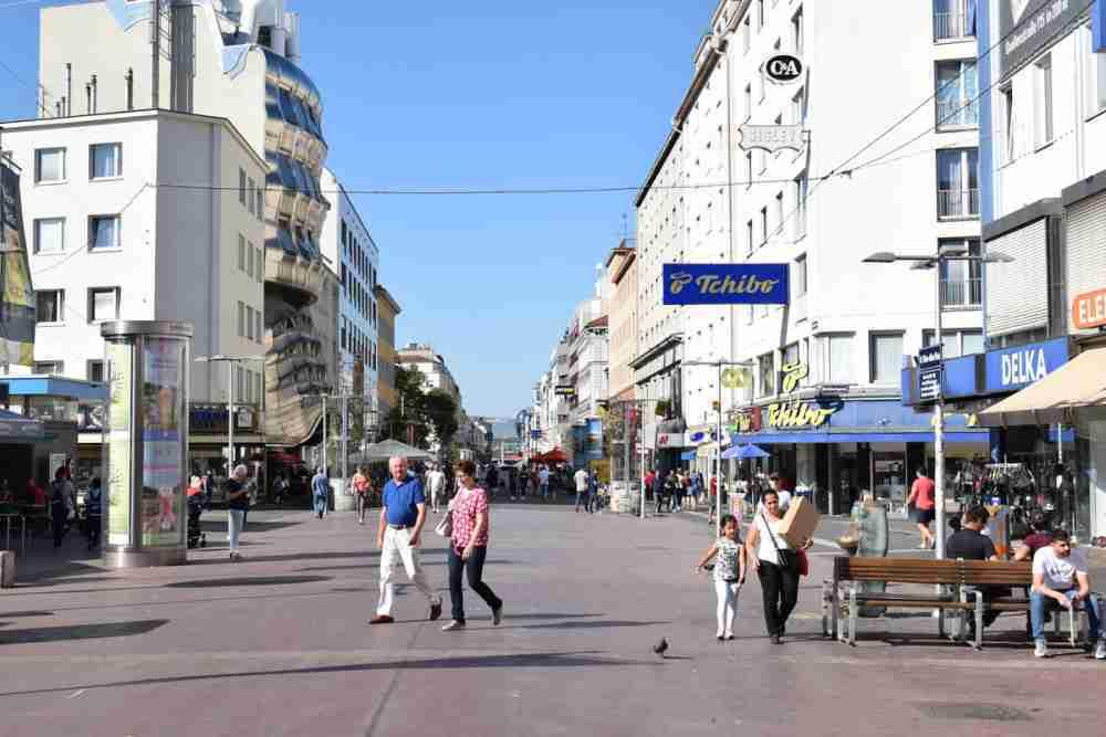 Favoritenstraße in Vienna in Austria