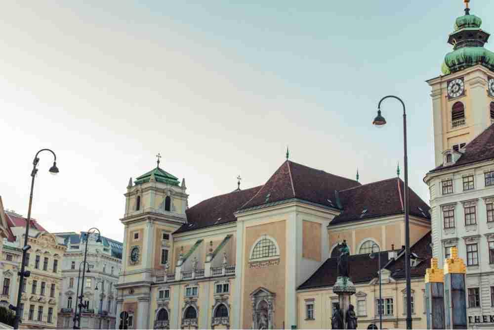 Freyung in Vienna in Austria