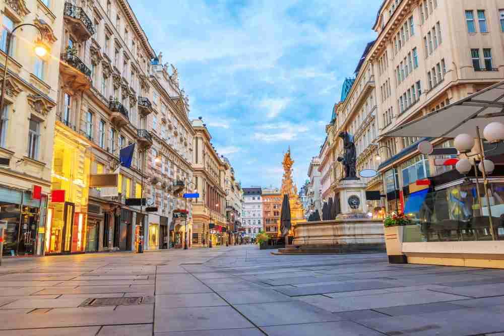 Graben in Vienna in Austria