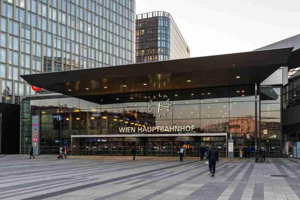 Hauptbahnhof - BahnhofCity in Vienna in Austria