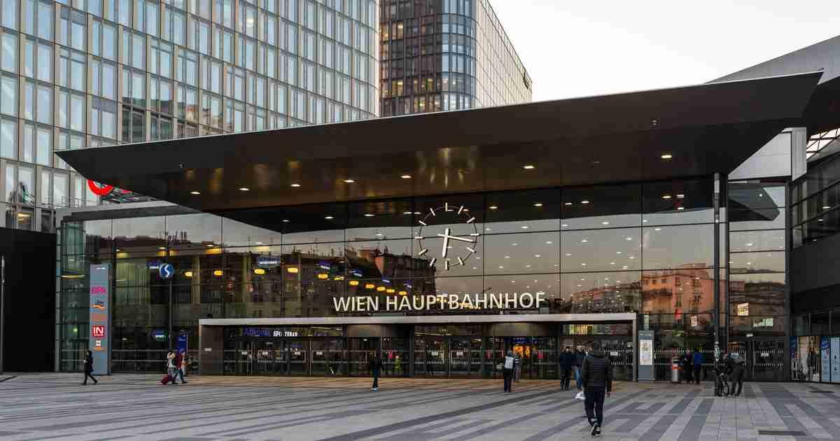 Hauptbahnhof Wien in Vienna in Austria