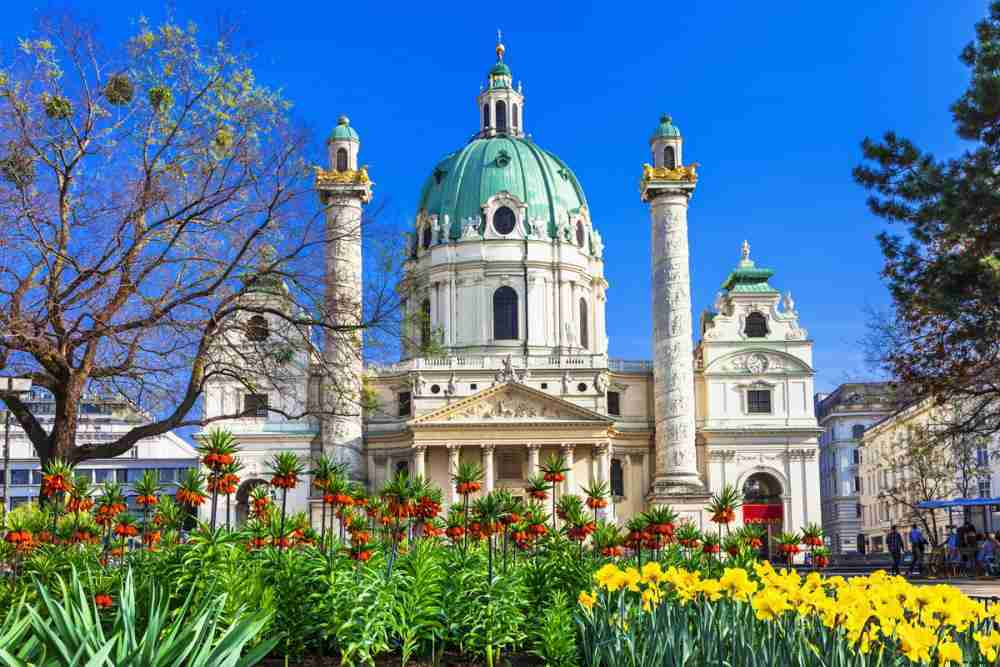 Karlskirche in Vienna in Austria