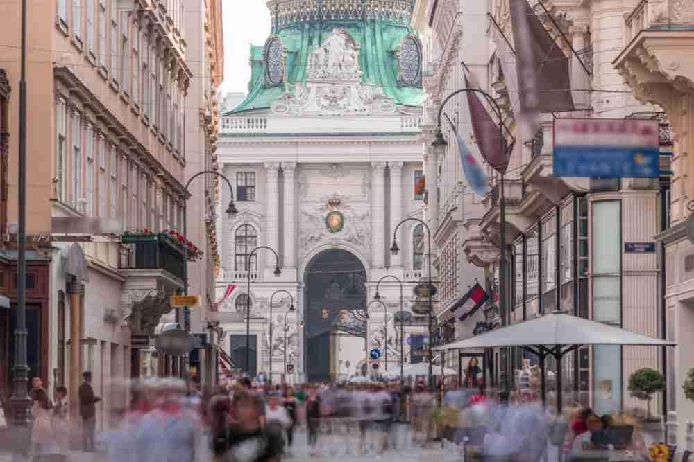 Kohlmarkt in Vienna in Austria
