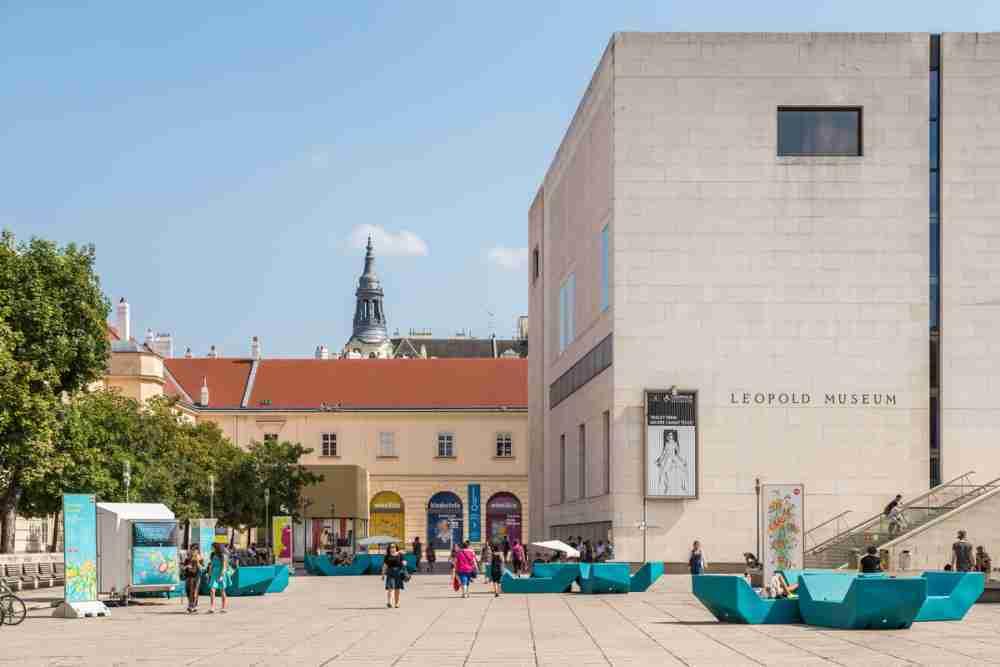 Leopold Museum in Vienna in Austria