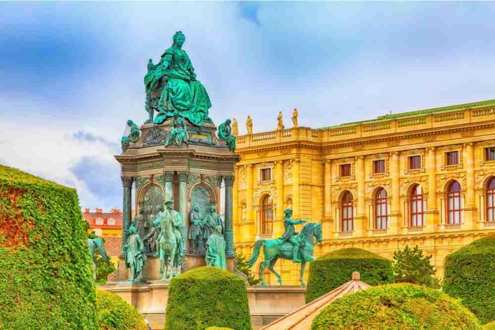 Maria Theresa Monument in Vienna in Austria