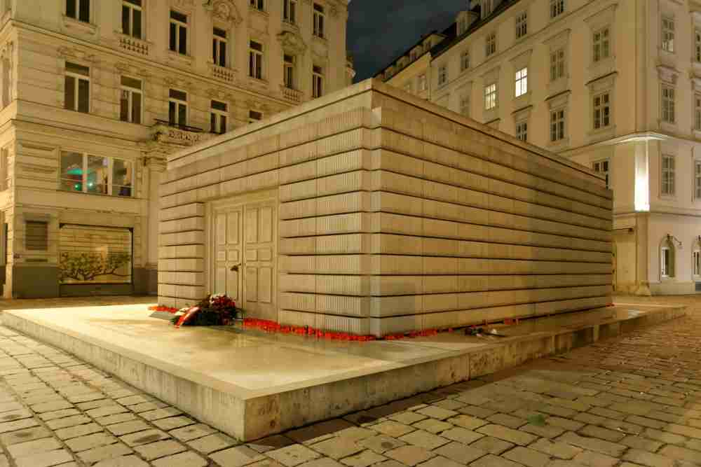 Memorial to the Austrian Jewish victims of the Shoah in Vienna in Austria
