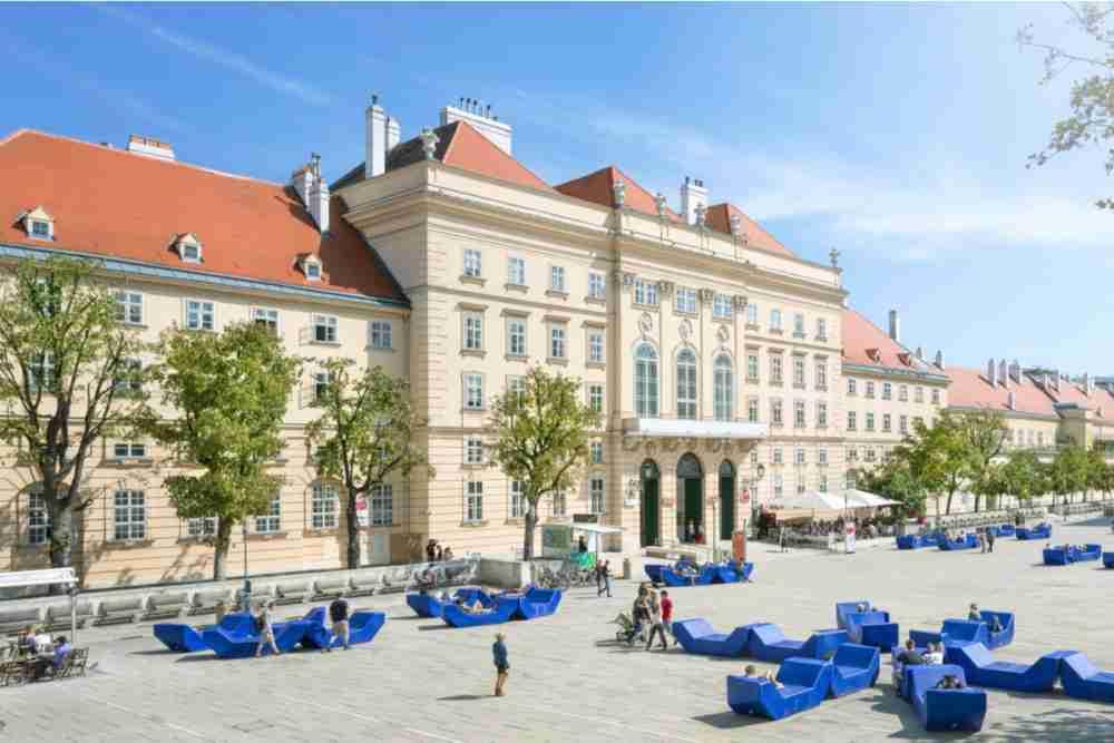 MuseumsQuartier in Vienna in Austria