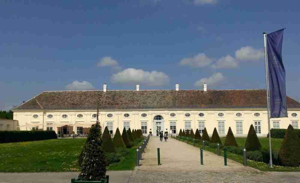 Palais Augarten and Augarten in Vienna in Austria