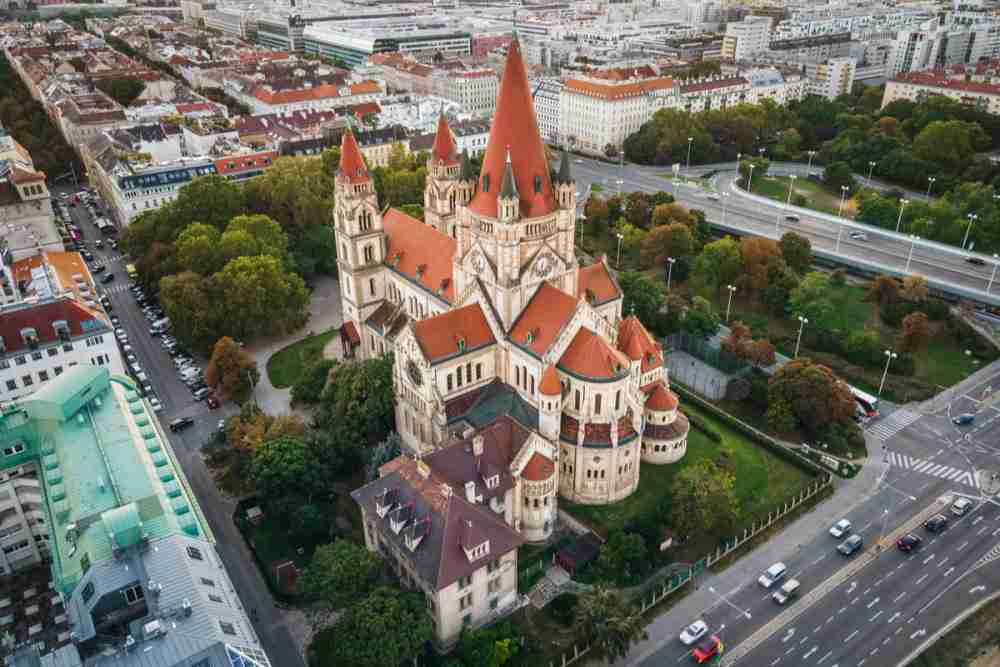 St. Francis of Assisi Church in Vienna in Austria