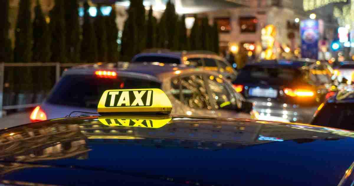 Taxi in Vienna in Austria