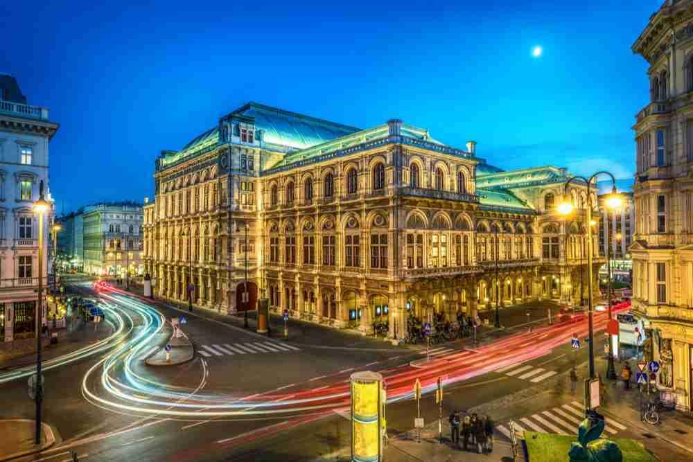 Vienna State Opera in Vienna in Austria