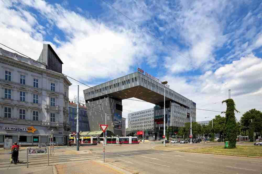 Westbahnhof - Bahnhof City in Vienna in Austria