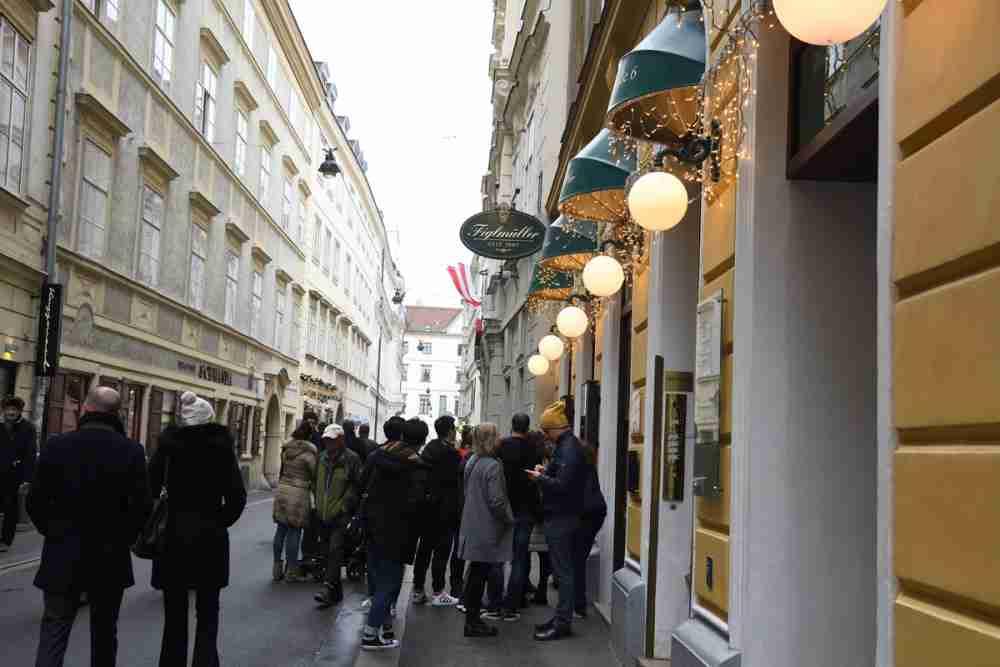 Wollzeile in Vienna in Austria