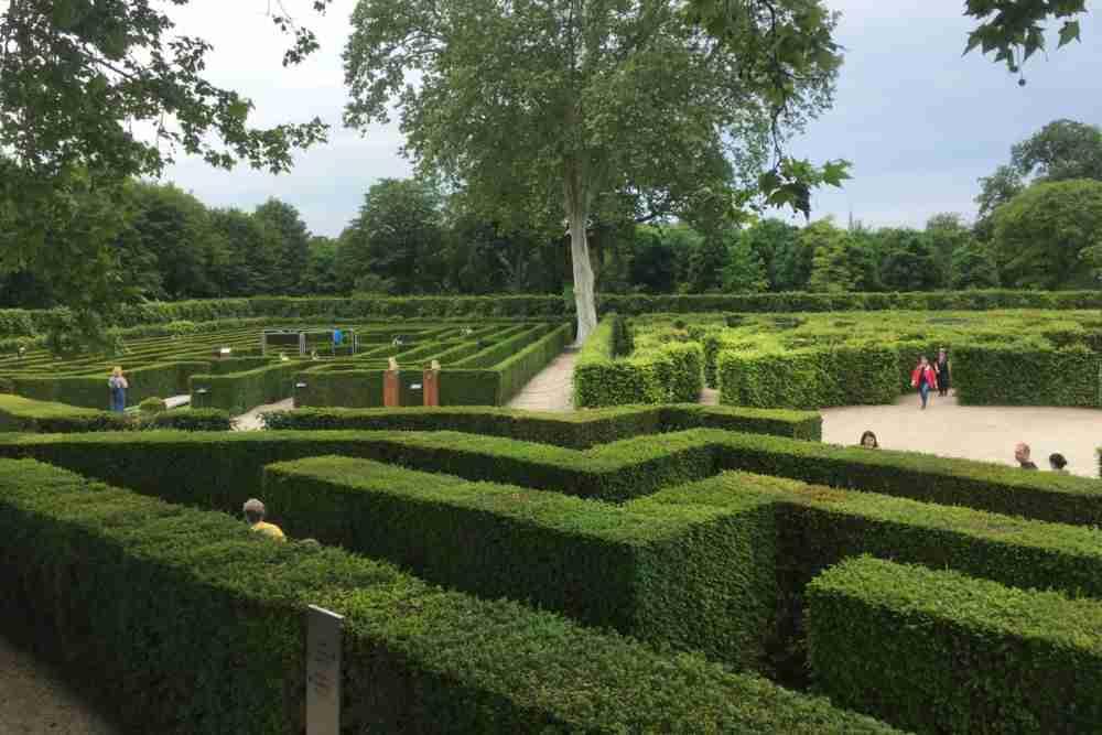 schonbrunn palace labyrinth in vienna in austria