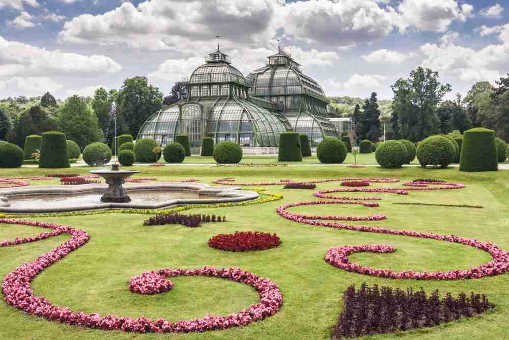 Botanical Garden in Vienna in Austria