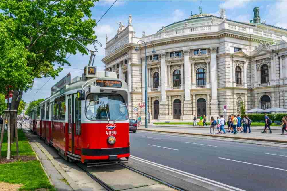 Burgtheater in Vienna in Austria