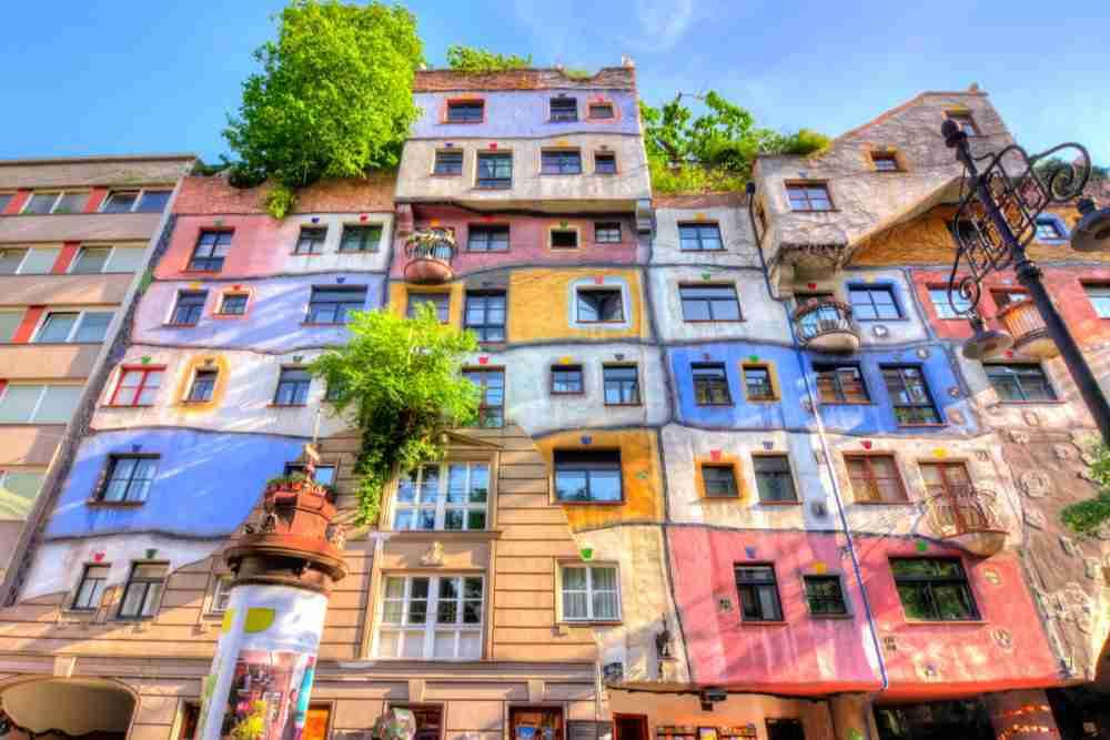 Hundertwasserhaus in Vienna in Austria