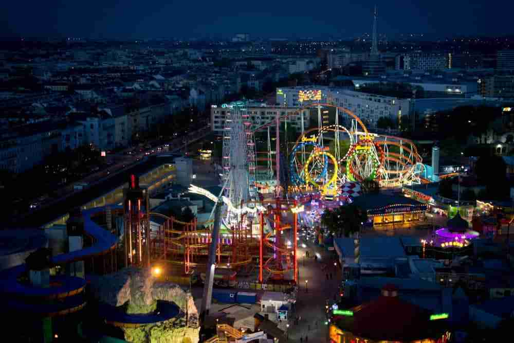 Nightlife in Prater in Vienna in Ausria
