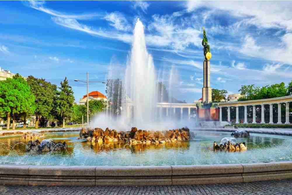 Schwarzenbergplatz in Vienna in Austria