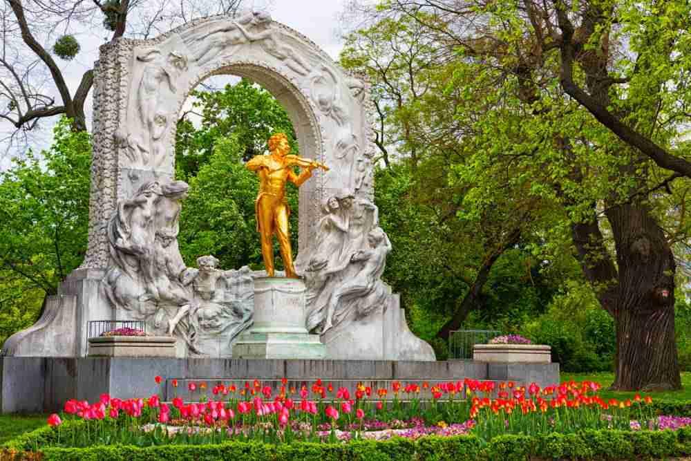 Stadtpark in Vienna in Austria