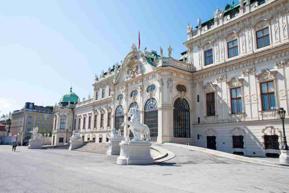 Austellungen im Schloss Belvedere in Vienna in Austria