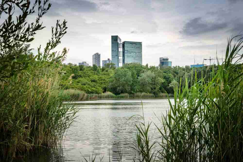 Erholungsgebiet Wienerberg in Vienna in Austria