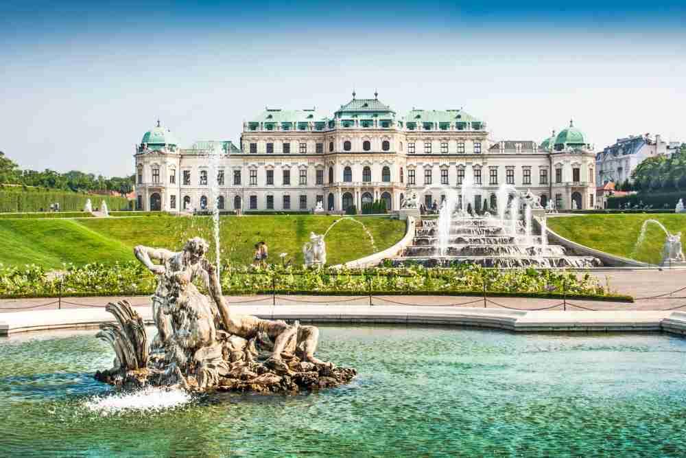 Oberes Belvedere und Museum in Vienna in Austria