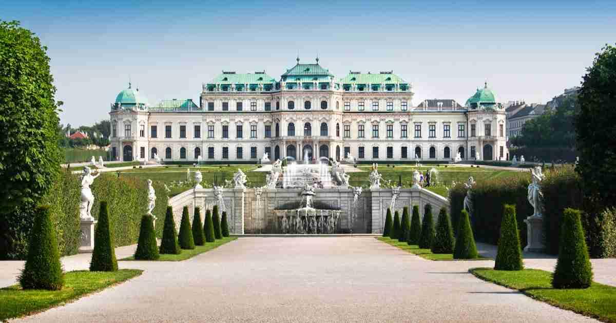 Schloss Belvedere in Vienna in Austria