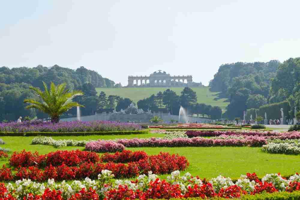 Schlosspark Schönbrunn in Vienna in Austria