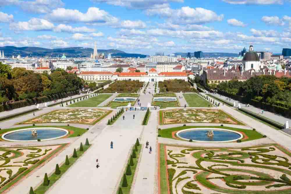 Unteres Belvedere in Vienna in Austria