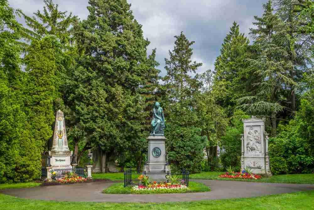 Wiener Zentralfriedhof in Vienna in Austria