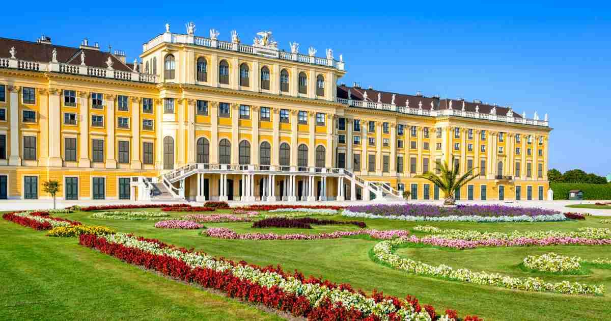 Schloss Schönbrunn in Wien in Austria